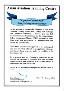 Corporate Commitment Safety Management Manual